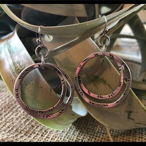 Silver Double-Hoop Earrings